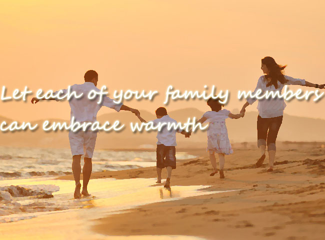 Let each of your family members can embrace warmth