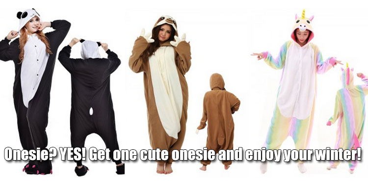 Get one cute onesie and enjoy your winter