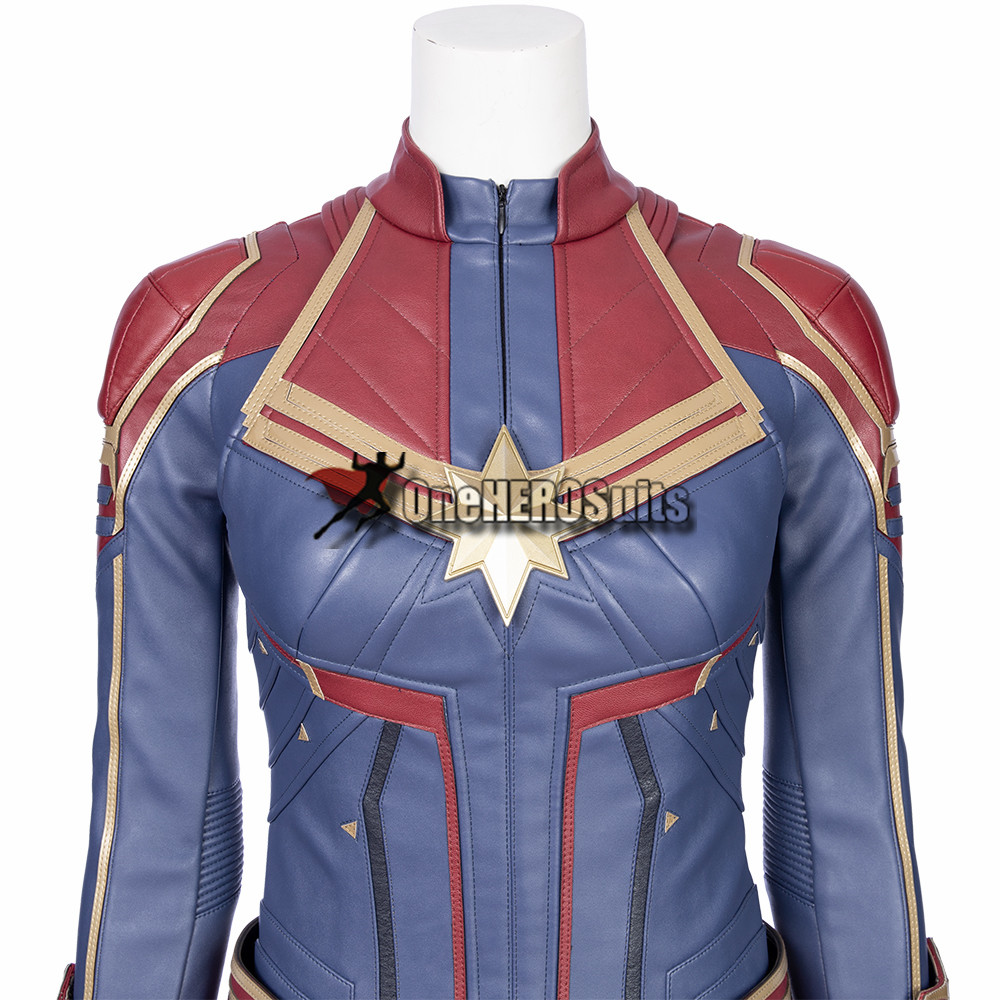 captain marvel cosplay costumes from oneherosuits