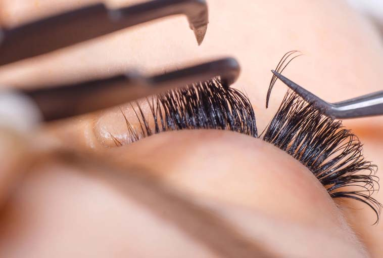 How to apply eyelash extensions the using guide