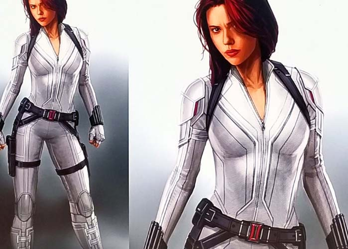 new black widow suit white edition
