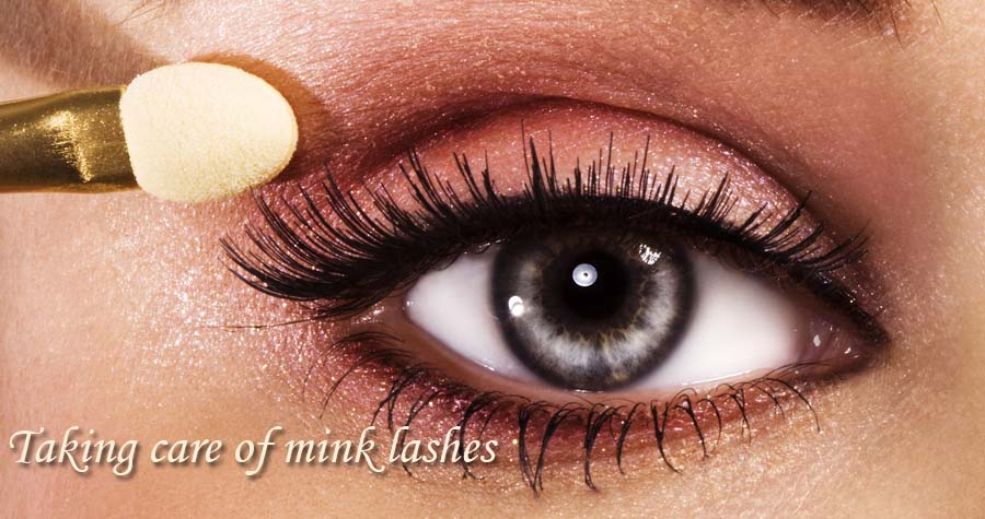 Taking care of mink lashes
