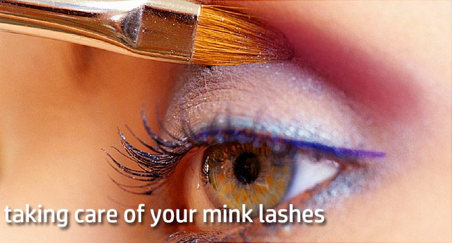 taking care of your mink lashes